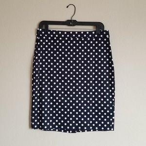 J.Crew Navy Pencil Skirt